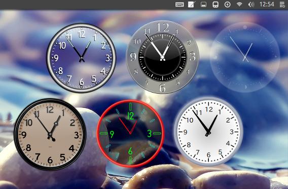 Cairo-Clock Ubuntu アナログ時計 時計ウィジェット