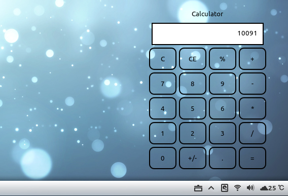 Desktop Calculator Ubuntu Cinnamon 電卓 ウィジェット