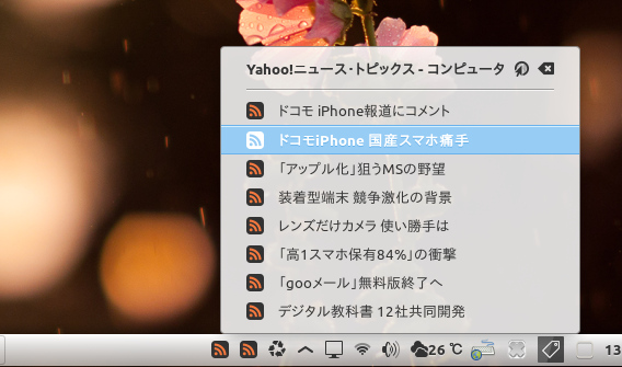 Feeds Reader Ubuntu Cinnamon RSSリーダー
