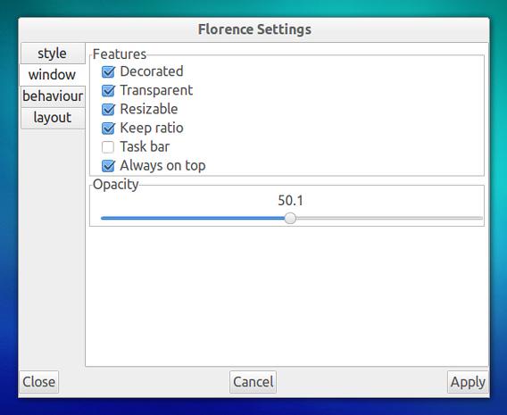 Florence Virtual Keyboard Ubuntu ソフトウェアキーボード ウィンドウ