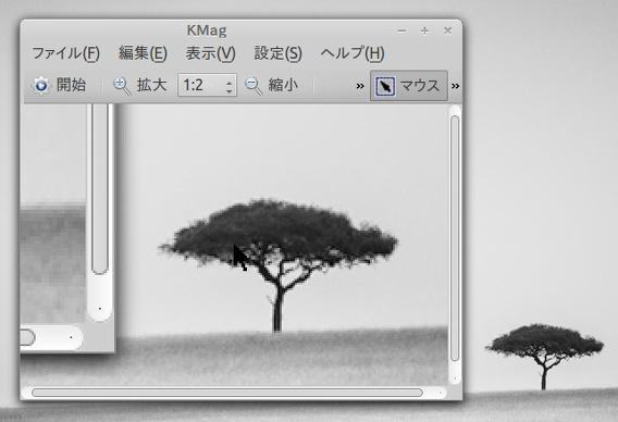 KMag Ubuntu デスクトップ 拡大