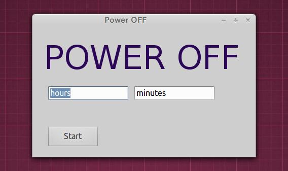 Power-OFF Ubuntu シャットダウンタイマー タイマーセット