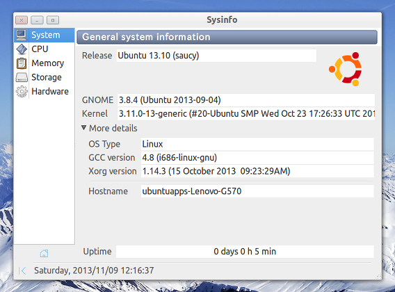 Sysinfo Ubuntu システム情報
