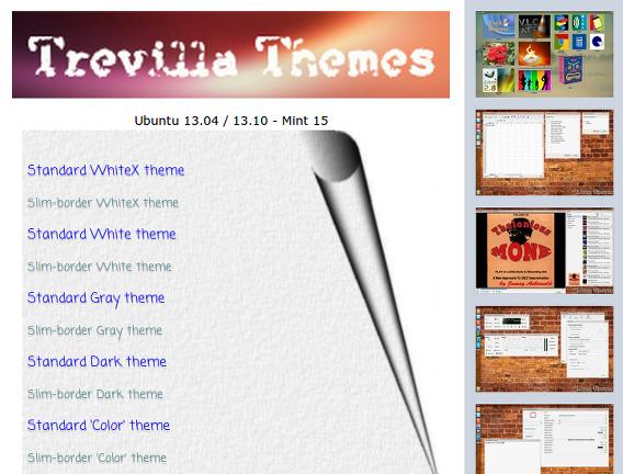 Trevilla theme Ubuntu テーマ ダウンロード