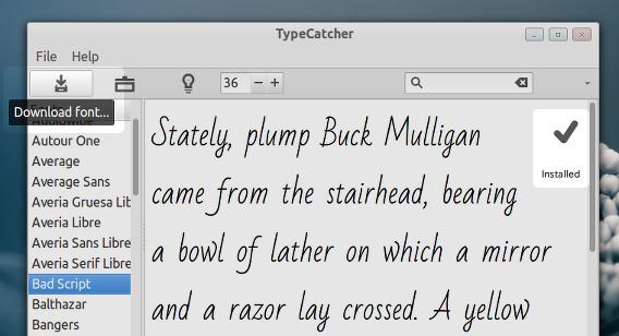 TypeCatcher Ubuntu Google Fonts インストール方法