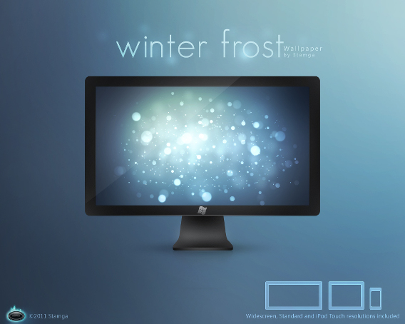 Winter Frost Ubuntu 壁紙