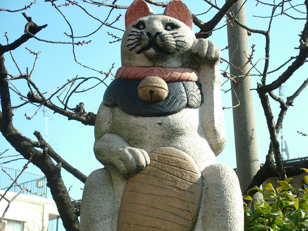 巨大招き猫。