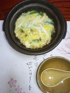 110316 さかぐち 黄ニラと白魚の卵とじ