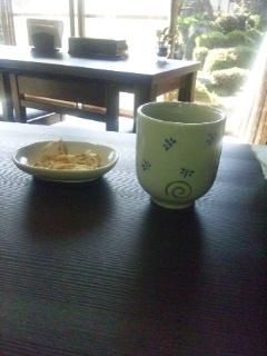 111026 奥津 そば処秀峰 お茶
