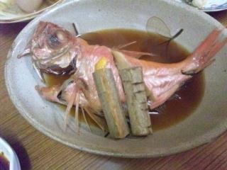 111207 成田家 栄町店 金目鯛煮つけ