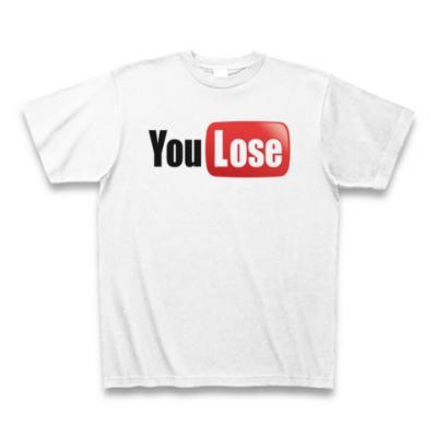 You Lose Tシャツ(ホワイト)