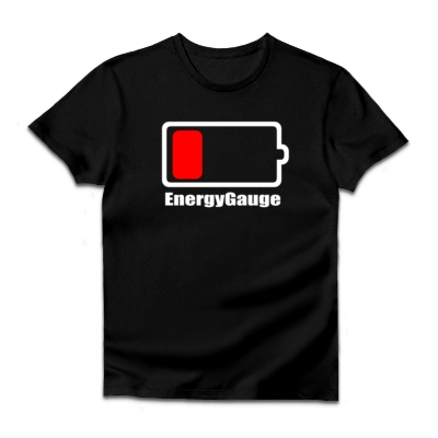 UPSOLDバッテリー(消耗)ダルクベーシックTシャツ(ダークカラー)