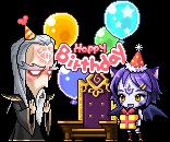 3010402 お誕生日おめでとうございますデーモンEff