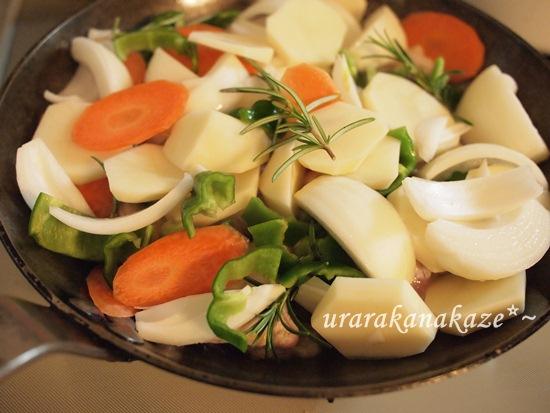 チキンと野菜のフライパン蒸し焼き