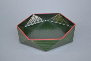 六角菓子器(緑)