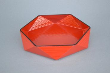 六角菓子器(朱)