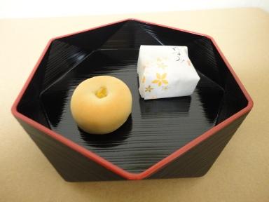 六角菓子器(黒)