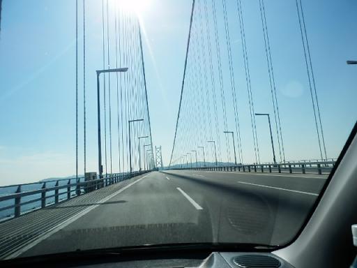 明石海峡大橋走行中