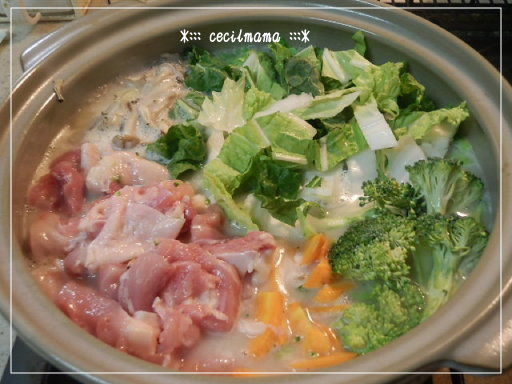 チーズ豆乳鍋_1