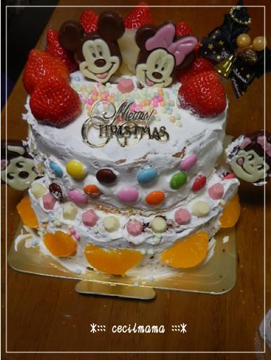 女子会クリスマスケーキ