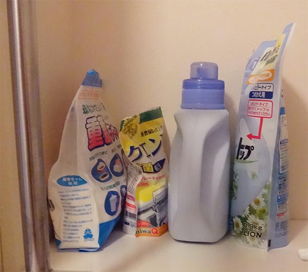 洗剤類の詰め替え