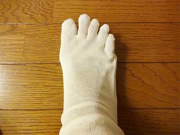 足の冷えとり重ね履き靴下