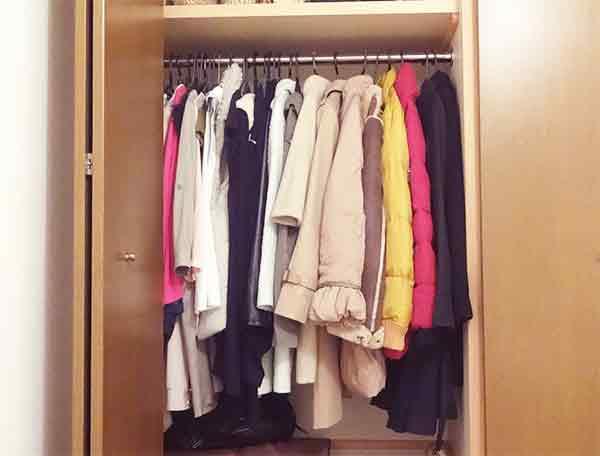クローゼット服の整理