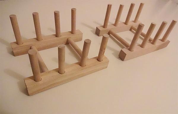 ダイソーディッシュスタンド木製