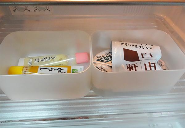 冷蔵庫薬味類整理