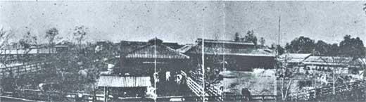 明治20年代後半にできた耕牧舎牧場の全景
