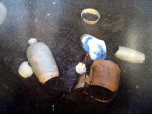 三栄遺跡から出た陶器