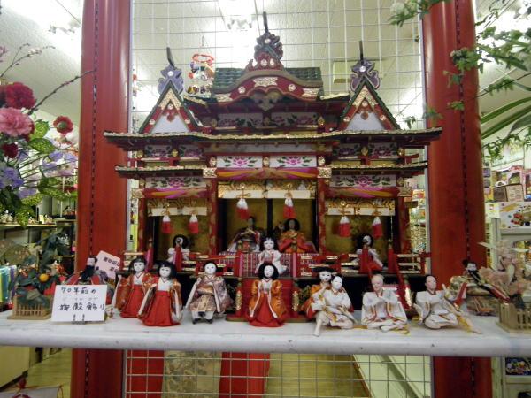 津山雛巡り 70年前の御殿飾り
