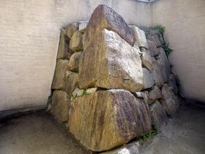 岡山城 築城当時の石垣