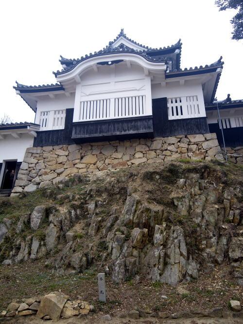 備中松山城 天守閣の石垣
