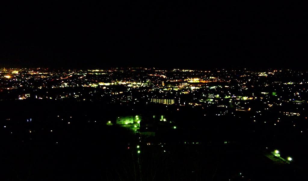 城山公園展望台から 松本IC方面