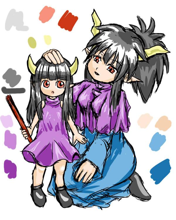 魔王の娘と魔王の妻
