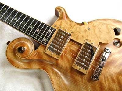 トラ杢ギター