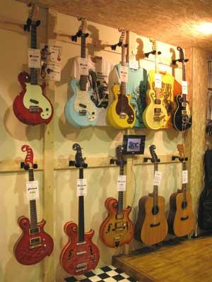ギター展示会風景