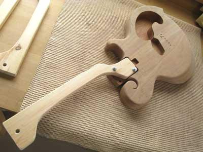 ギター塗装準備