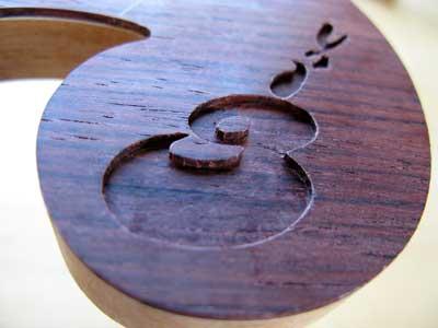 ギター螺鈿加工