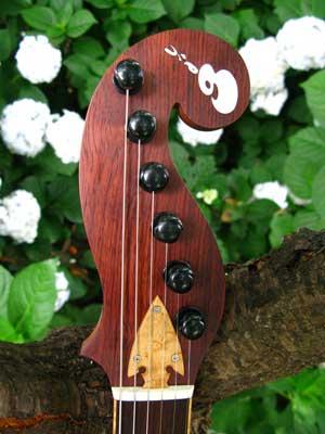 ギター螺鈿埋め込み