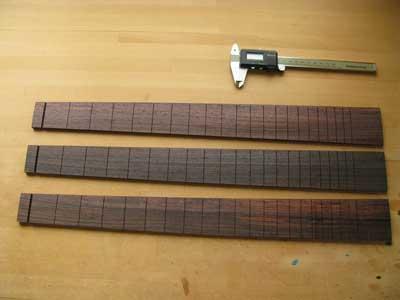 ギター指板加工