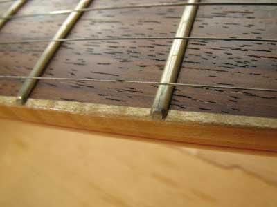 ギターフレット加工