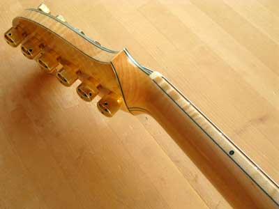 ギターウッドバインディング