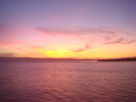セブ沖の夕日