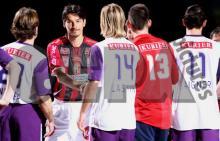 古巣オーストリアウィーンの若手と試合前の挨拶