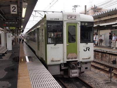 高麗川から高崎行きに乗車
