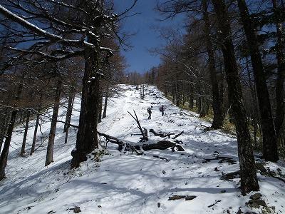 小雲取への登り