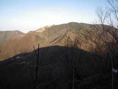 雁ヶ腹摺への途中から黒岳