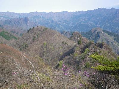 シラケ山から烏帽子岳
